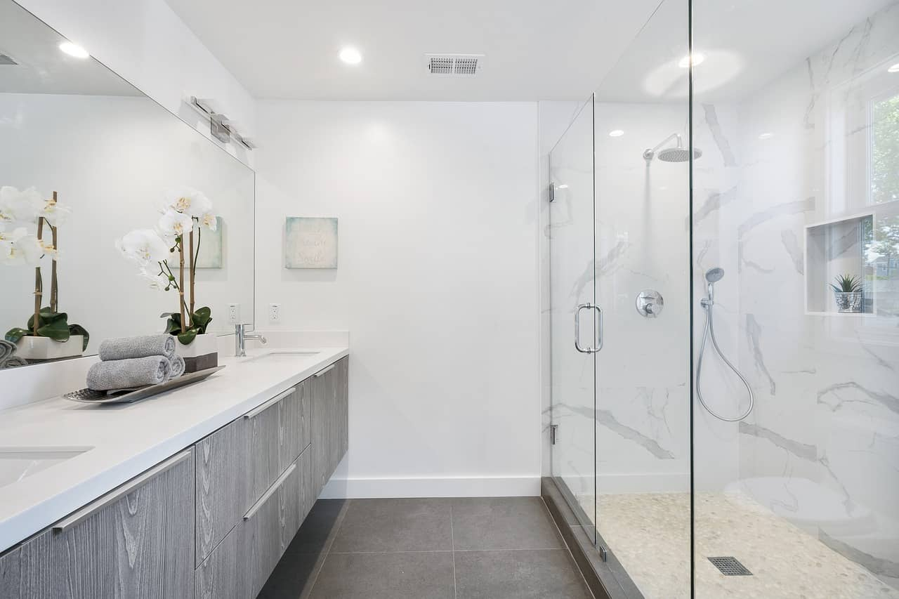 Good lighting choices will make all the difference in a bathroom