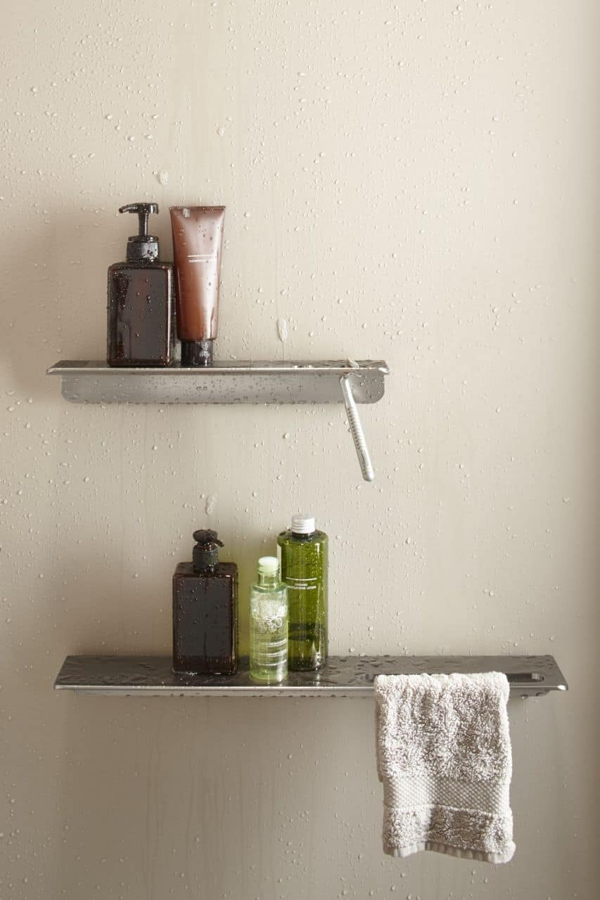 Spend the extra money and buy decent shower shelves