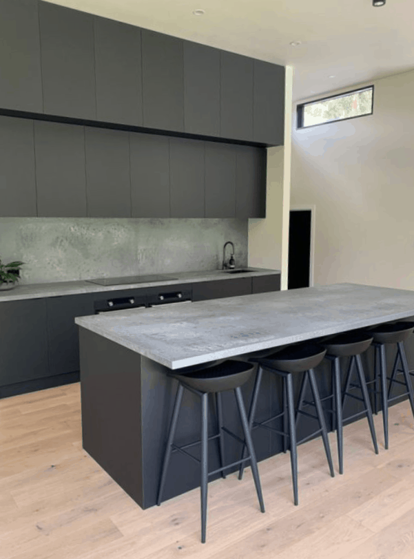Donvale Black and Grey Kitchen